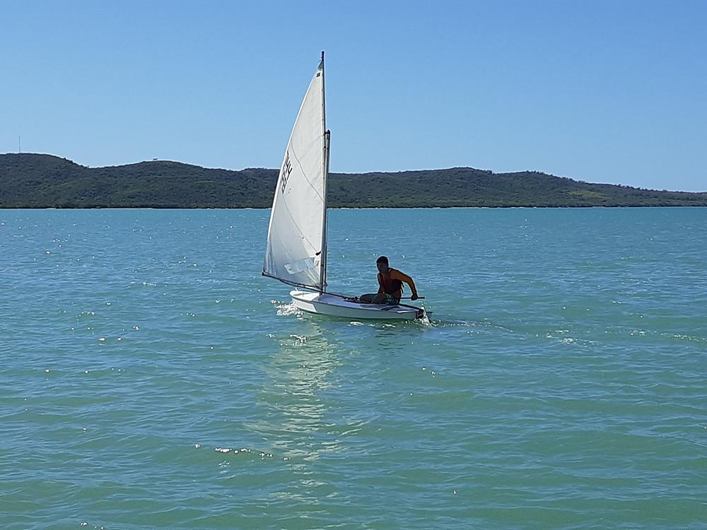 Corriendo Sunfish en Boquerón. Cabo Rojo