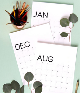 MODERN MINIMAL PRINTABLE 2019 CALENDAR AND MONTHLY PLANNER