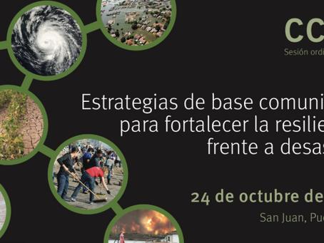 Foro:Estrategias de Base Comunitaria para Fortalecer la Resiliencia Frente a Desastres
