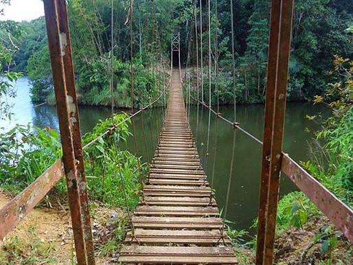 Puente Colgante del Lago Garzas, Adjuntas