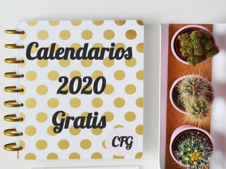 Calendarios y Agendas Imprimibles 2020 - Gratis