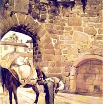 Porta dos Cavaleiros, em 1921, segundo a