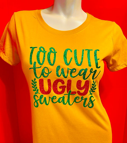 Too cute to wear ugly sweater