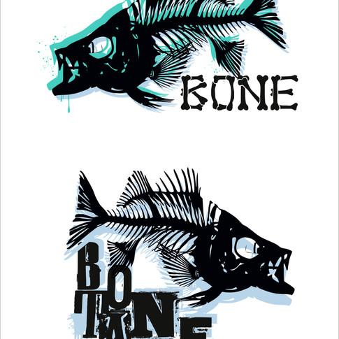 Fish Bone and Bone Tail