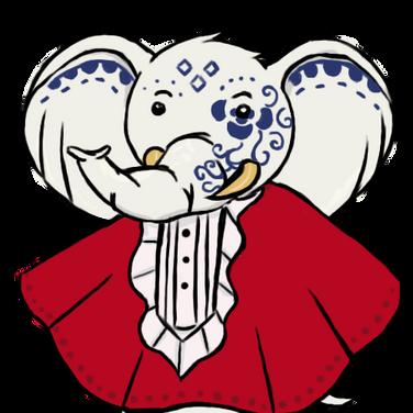 Porcelain Elephant Sprite