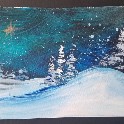 Snowy Twinkling Landscape