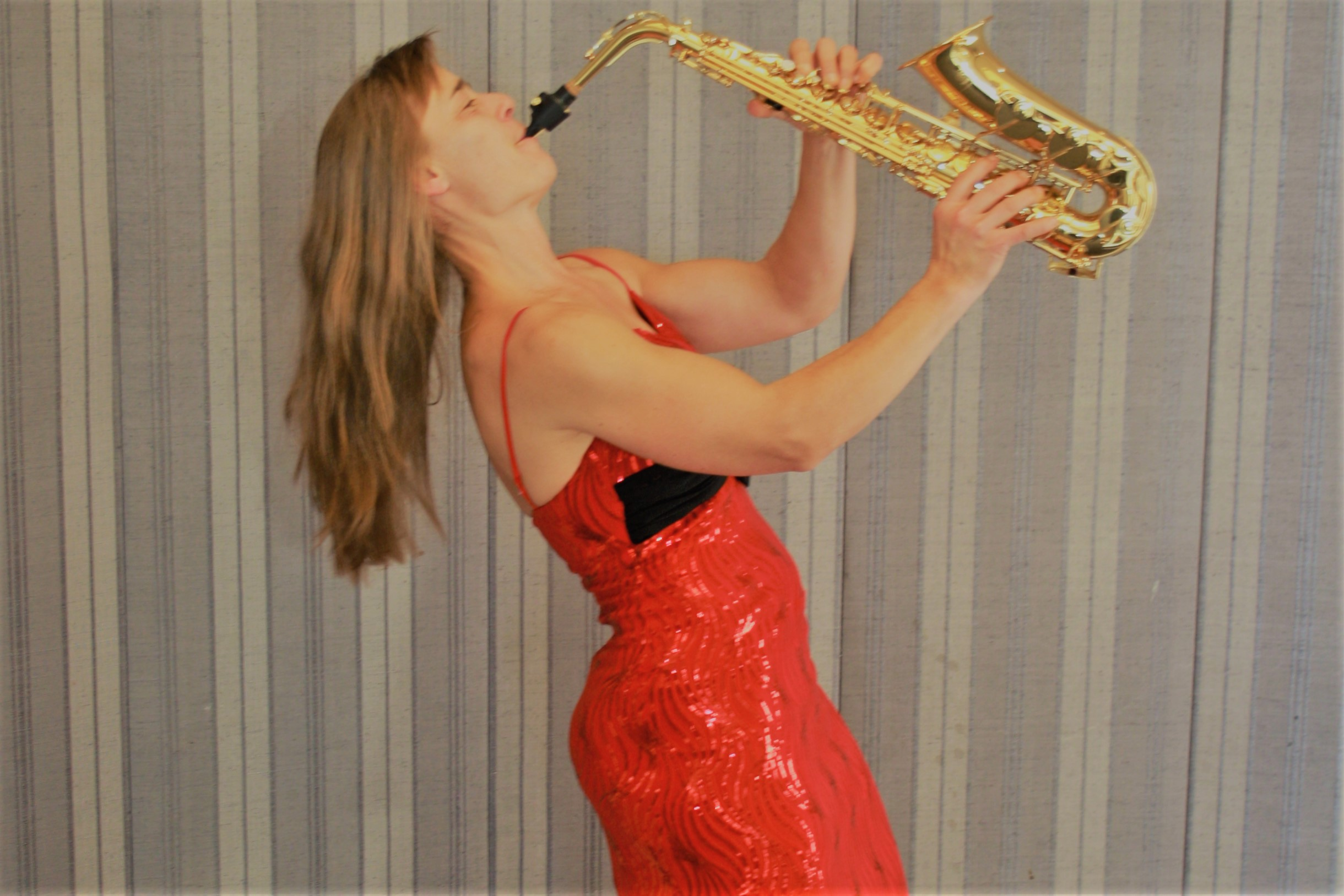 Saxophonspielerin