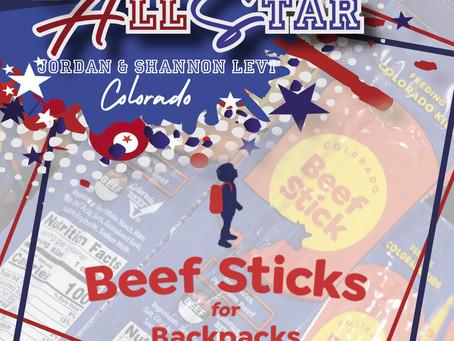 Beef Sticks for Backpacks