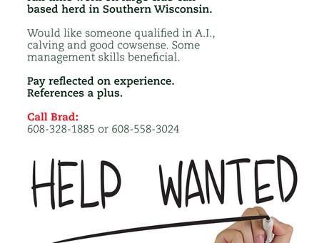 Help Wanted: Farm Hand - Carrousel Farms