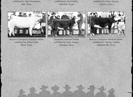 10 Years Ago at the Fort Worth Jr Heifer Show...These Were the Winners