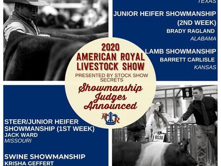 American Royal 2020 Showmanship Judges