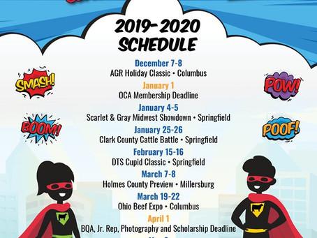 Ohio Cattleman's Best Program Show Schedule 2019-2020