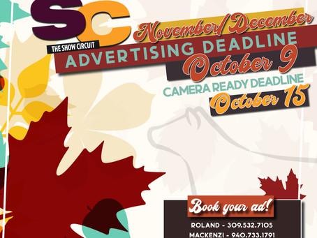 November/December Ad Deadline