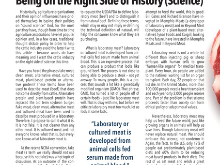 Being on the Right Side of History (Science): Fake, Clean, Alternative or Cultured Meat?