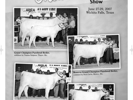 Throwback Thursday - Charolais Jr National 2007