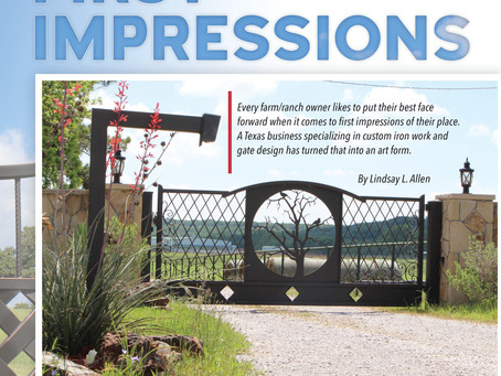 Custom First Impressions - Texas business specializes in custom iron work and gate design.