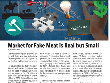 Market for Fake Meat Real but Small