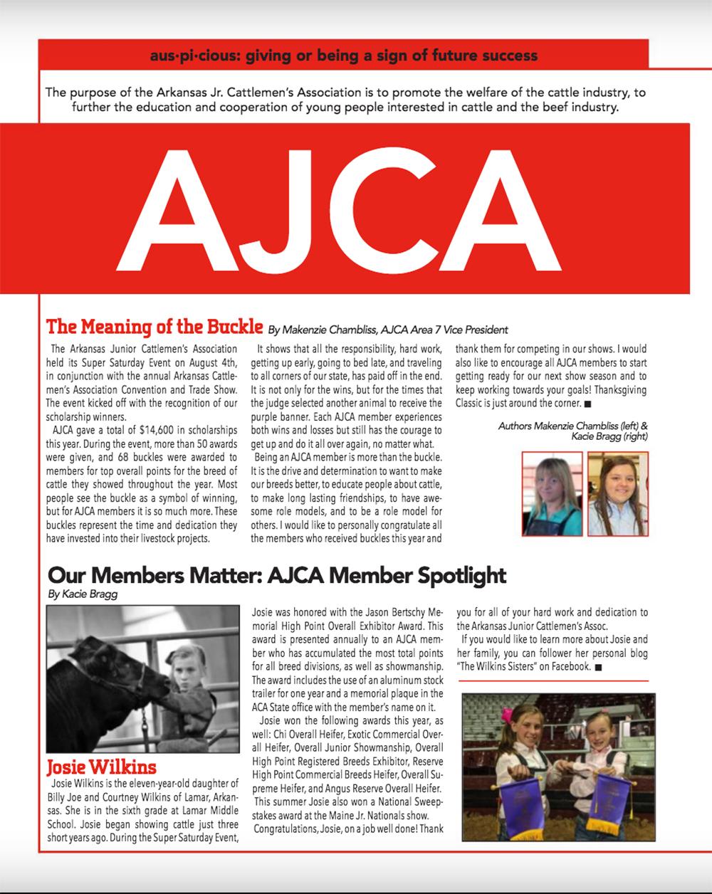 Junior News The Show Circuit Theshowcircuit Twitter Arkansas Cattlemens Association September October 2018