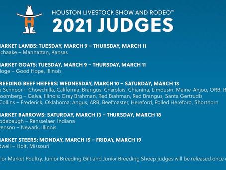 2021 Houston Livestock Show Judges