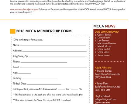 Missouri Club Calf Association- Sept/Oct 2018 News