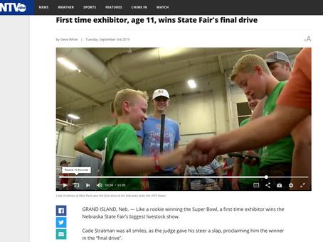 Rookie steer showman, 11, wins it all at the Nebraska State Fair!
