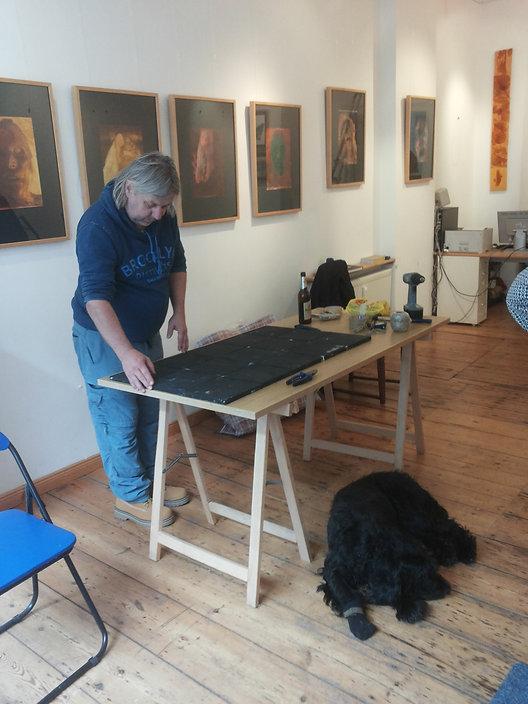 AKG Berlin Harald Koeck - Ausstellungsvorbereitung