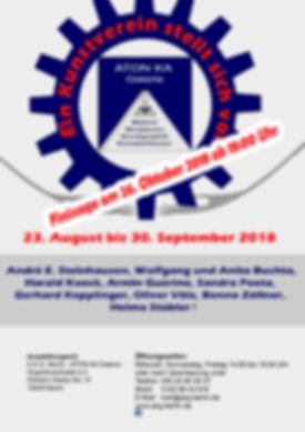Finissage - Plakat Ein Kunstverein stell