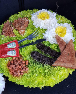 Fry up, English breakfast flower funeral