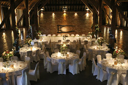 cooling castle barn wedding flowers