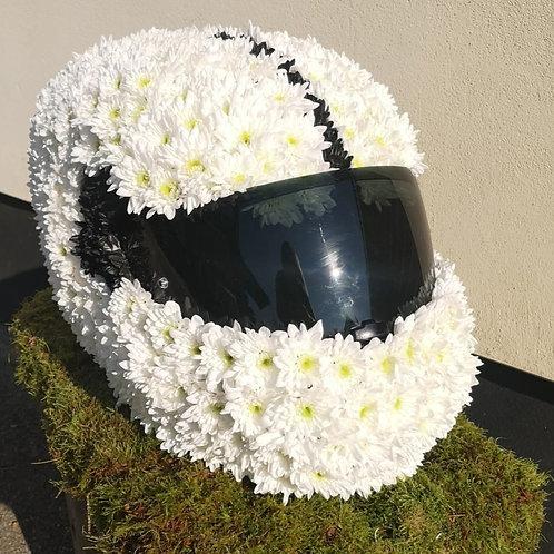 Motorbike Helmet Funeral Tribute