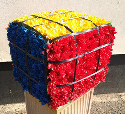 rubix cube flower funeral tribute Ashlei