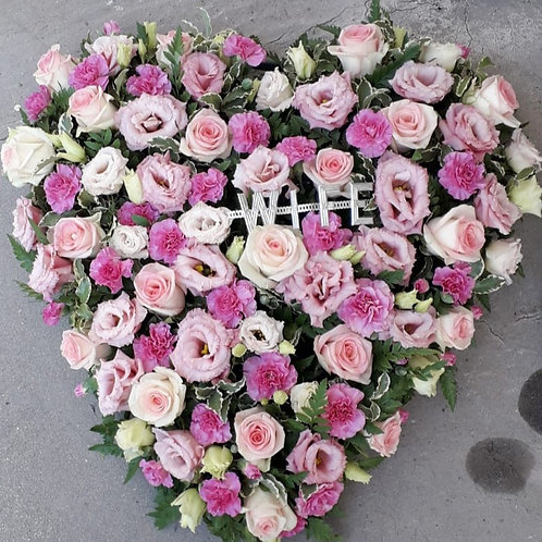 Mixed Flower Love Heart
