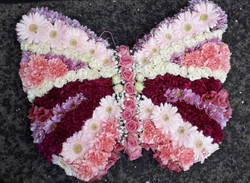 butterfly made from flowers funeral trib