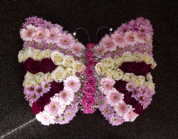 butterfly flower funeral tribute