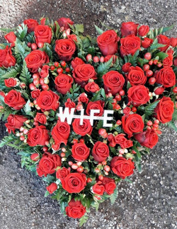 rose heart funeral tribute