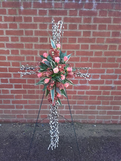 willow funeral cross Ashleigh Hopkins