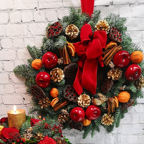 Luxury Red Apples, Scented Wreath