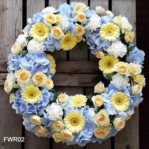 Blue Funeral Wreath