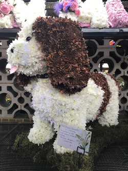 dog puppy funeral flower tribute
