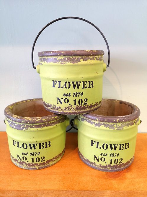 Flower paint pot planter