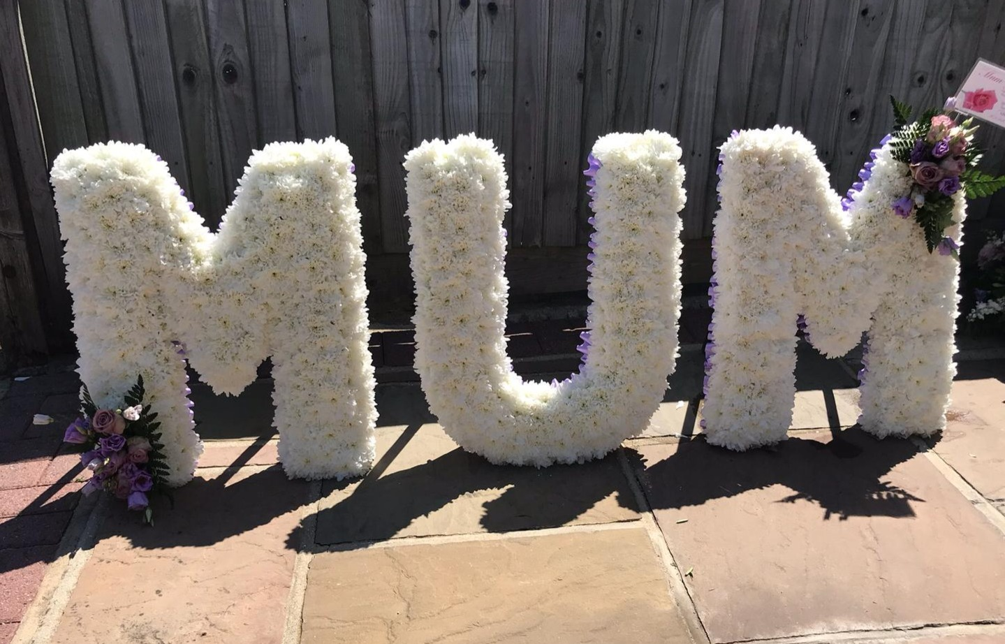 3ft MUM funeral flower tribute Ashleigh
