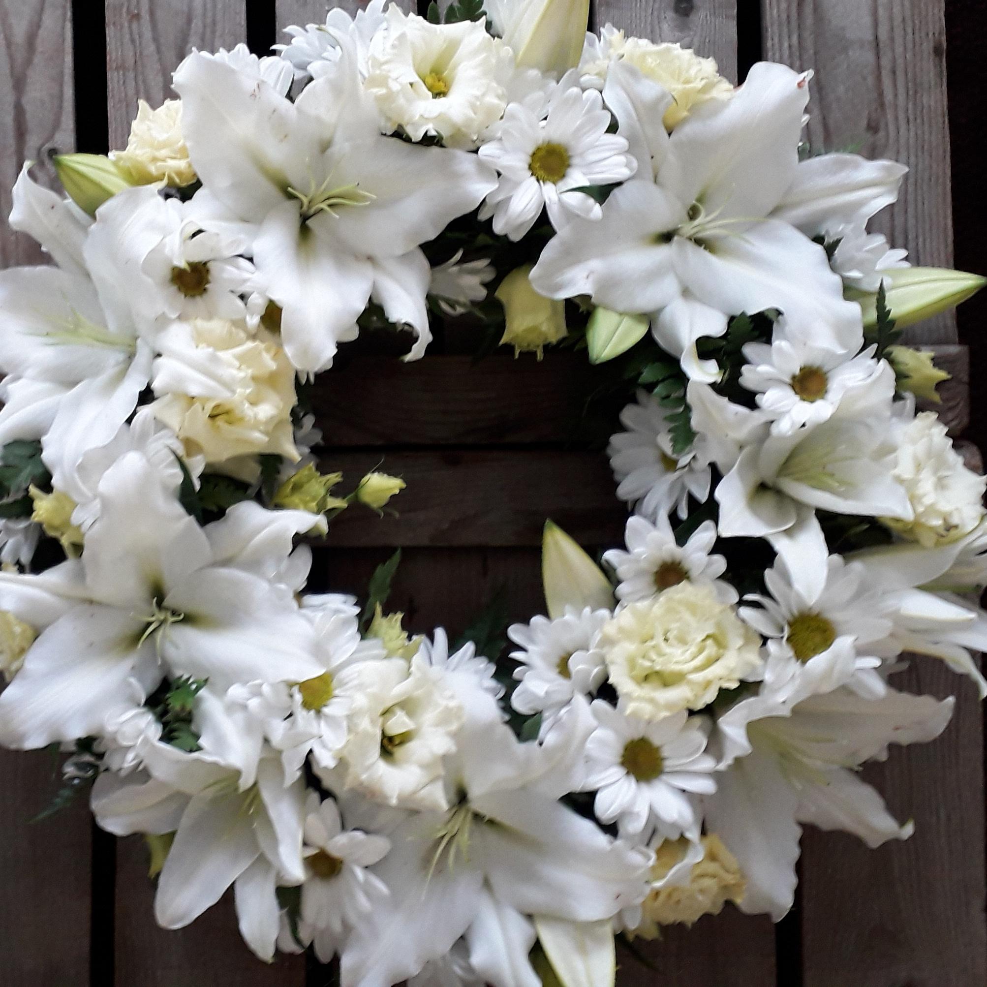 Luxury Lily Wreath White Ashleigh Hopkin