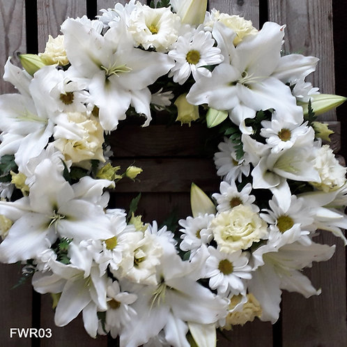 Lily Funeral Wreath