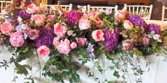 table runner flower display