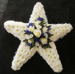 star flower funeral tribute