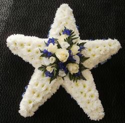 star flower funeral tribute