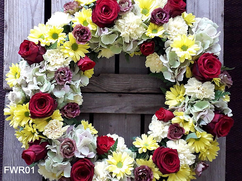 Royal Red Funeral Wreath