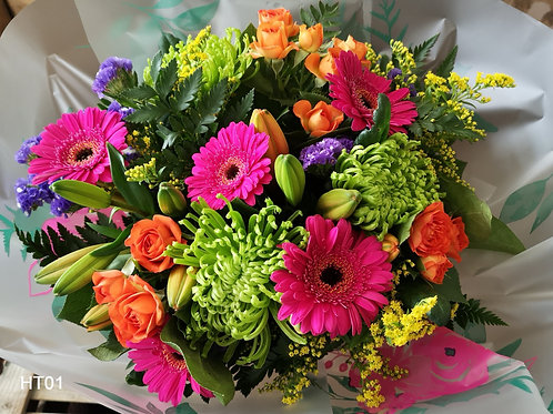 Bright Lilies and Gerberas