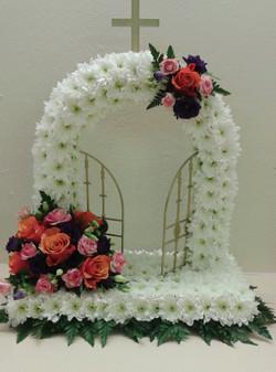 gates of heaven flower funeral tribute