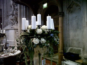 guilds Hall London Dinner candelabra cen